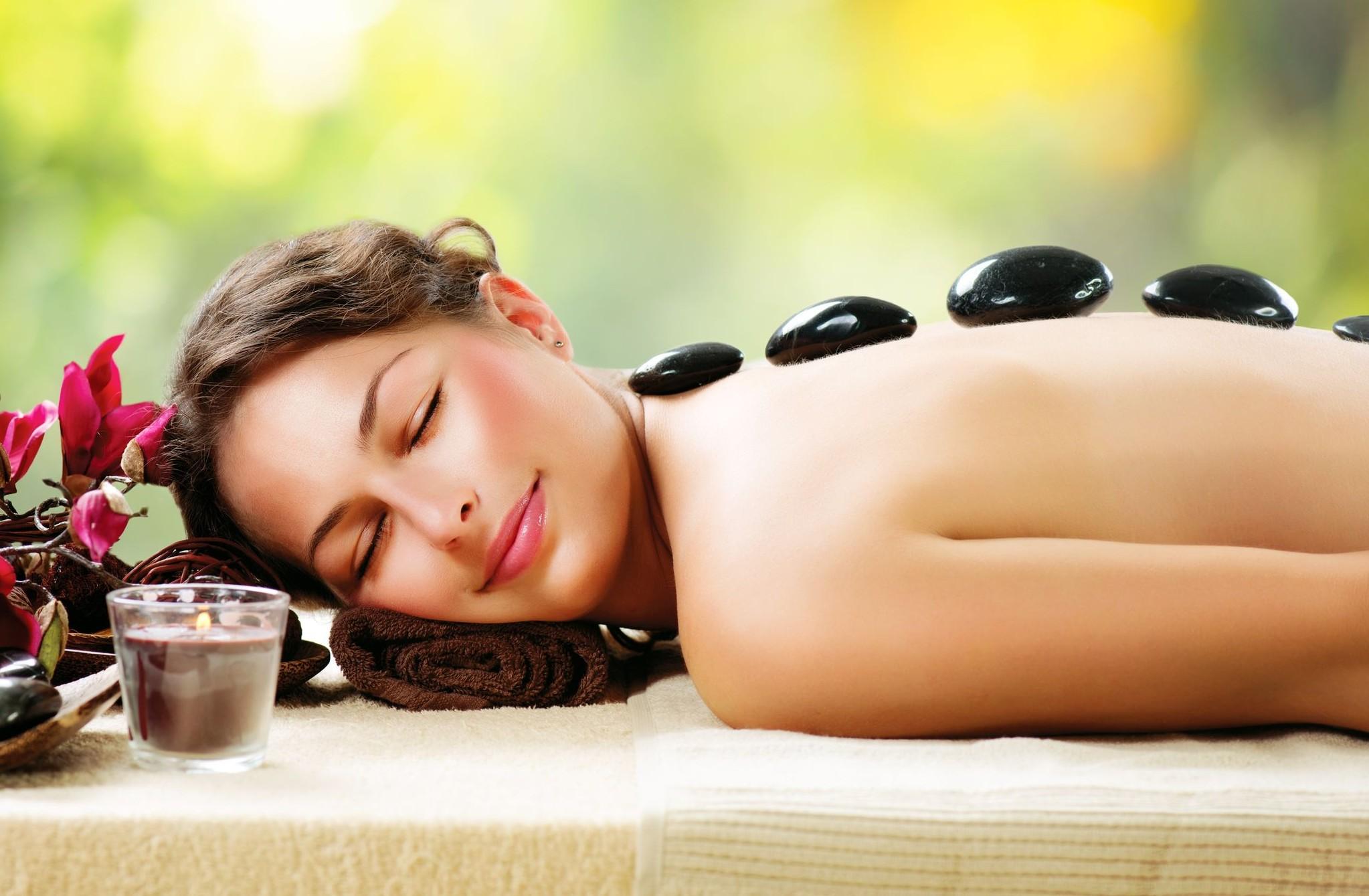 Hot stone massage afbeelding